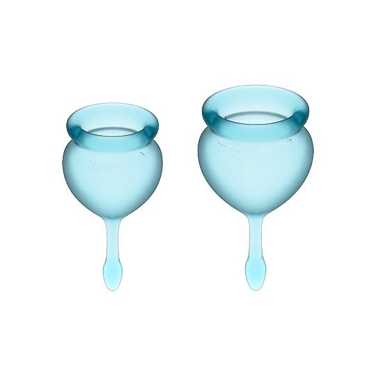 Set de 2 copas menstruales Satisfyer Feel Good
