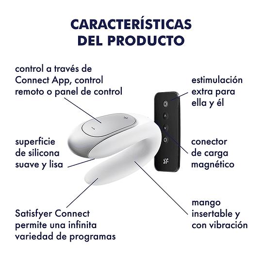 Vibrador para Parejas Bluetooth Satisfyer Double Fun