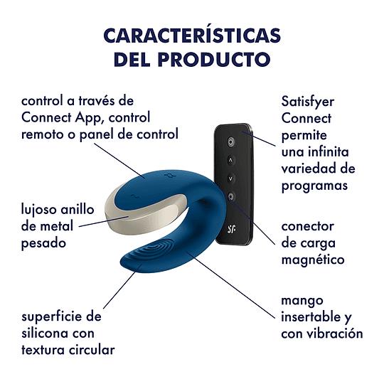 Vibrador para Parejas Bluetooth Satisfyer Double Love