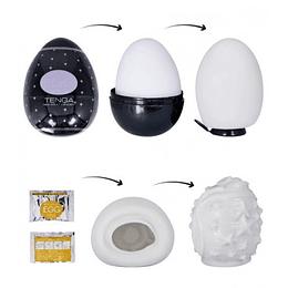 Huevo Masturbador Tenga Negro + Lubricante