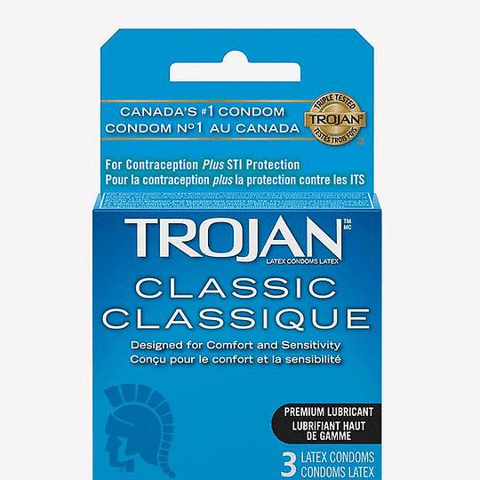 Pack x 3 Condón Trojan Clásico