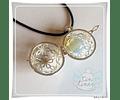 Llamador Margaritas con piedra luna