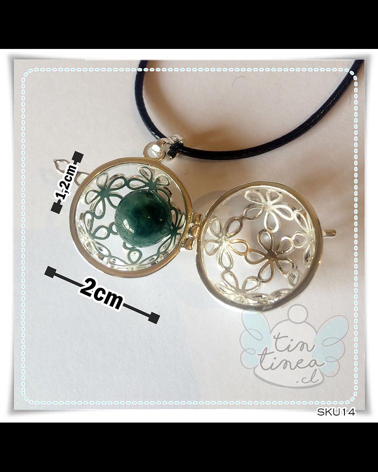 Llamador Margaritas con jade