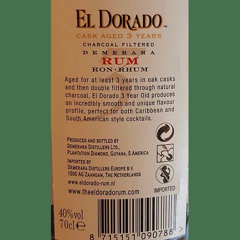 Rum El Dorado 3 Anos
