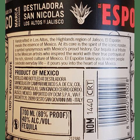 Tequila El Espolon Blanco