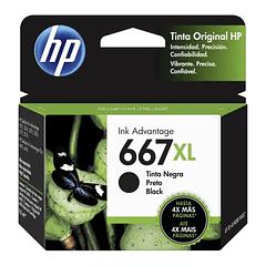 HP 667XL BLACK | Alto Rendimiento | Tinta Original