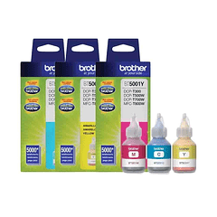 BROTHER PACK DE 3 COLORES BT5001 | Tinta Original