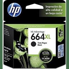HP 664XL BLACK | Alto Rendimiento | Tinta Original