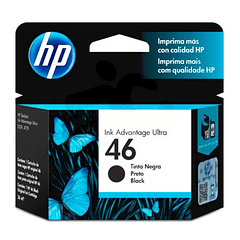 HP 46 BLACK | Tinta Original