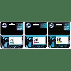 HP 951 PACK DE 3 COLORES | Tinta Original