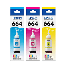 EPSON T6642 T6643 T6644 | PACK COLORES | CYAN MAGENTA YELLOW | Tinta Original