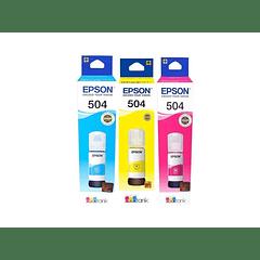 EPSON 504 | PACK COLORES | CYAN MAGENTA YELLOW | Tinta Original