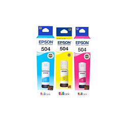EPSON 504 | PACK COLORES | CYAN MAGENTA YELLOW | Tinta Original