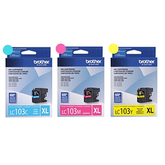 BROTHER LC-103 XL PACK DE 3 COLORES | Tinta Original