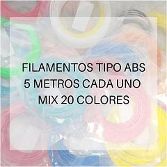 FILAMENTOS ABS 5 METROS C/U 20 UND MIX AC PPC GOLD | FILAMENTOS