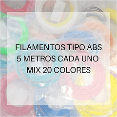 FILAMENTOS ABS 5 METROS C/U 20 UND MIX AC PPC GOLD   FILAMENTOS