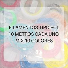 PCL 10 METROS C/U PACK 10 COLORES AC PPC GOLD | FILAMENTOS