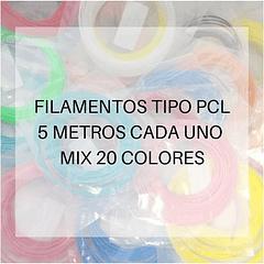 FILAMENTOS PCL 5 METROS C/U PACK 20 COLORES PPC | FILAMENTOS