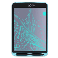 PIZARRA LCD 8,5 pulgadas | Azúl | Con borrado parcial
