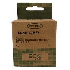 HP 662XL Tricolor | Alto Rendimiento | Tinta Alternativa | EcoCaja