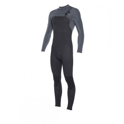 TRAJE SURF HYPERFREAK 4/3 MM CHEST ZIP BLACK/GRAPHITE ONEILL