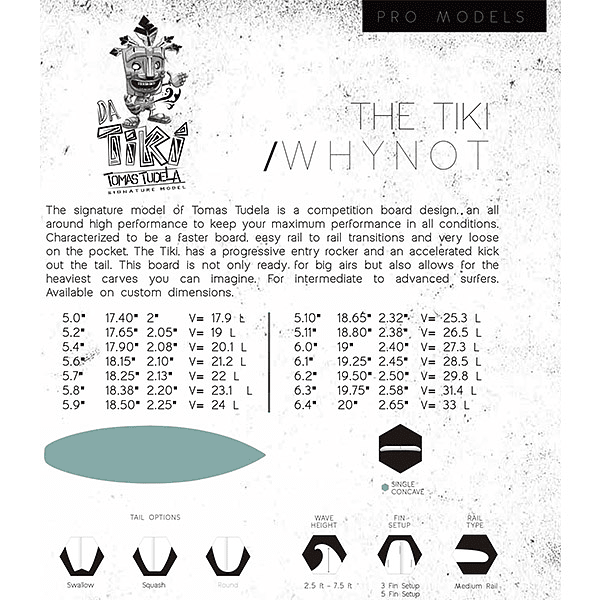 TABLA SURF THE TIKI WHY NOT ( 5´6