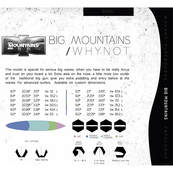 TABLA SURF BIG MOUNTAINS WHY NOT ( 8´6