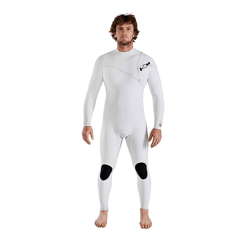 TRAJE SURF A7 ZIPPERLESS THREE ARTIC WHITE 3/3MM AGENT 18