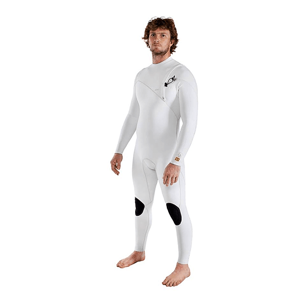 TRAJE SURF A7 ZIPPERLESS THREE ARTIC WHITE 3/3MM AGENT 18