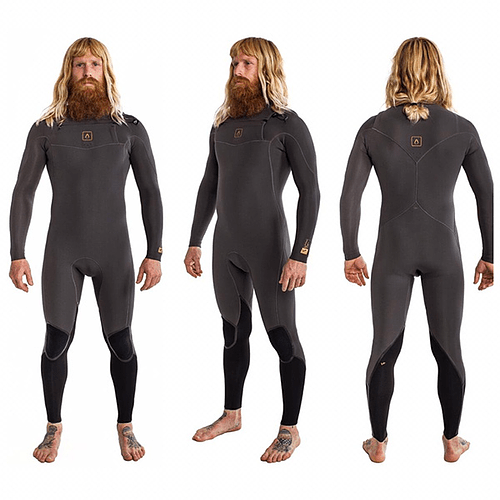 TRAJE SURF V7 CHEST ZIP FIVE NIGHTSHADE 4/3MM AGENT 18