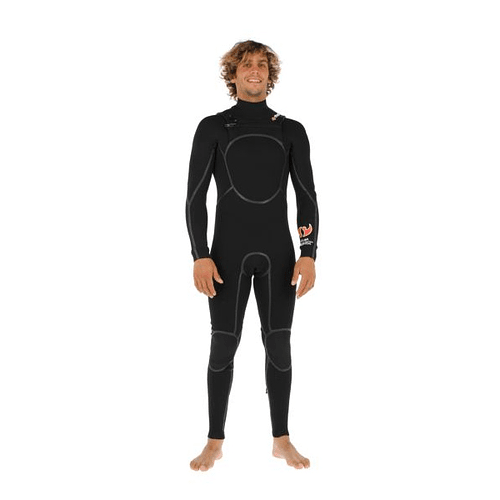 TRAJE SURF G2 NEGRO 4/3MM STOKED COD.9179