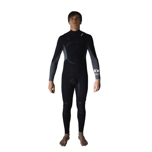 TRAJE SURF G2 GRIS/NEGRO 4/3MM STOKED COD.9179