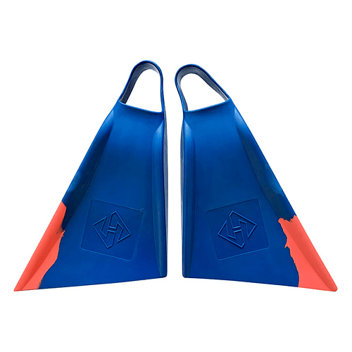 Aletas Air Hubb Swim fins Punta Recta Blue / Orange Cod.10421