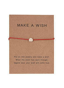 "PULSERA ROJA ""Make a Wish"""