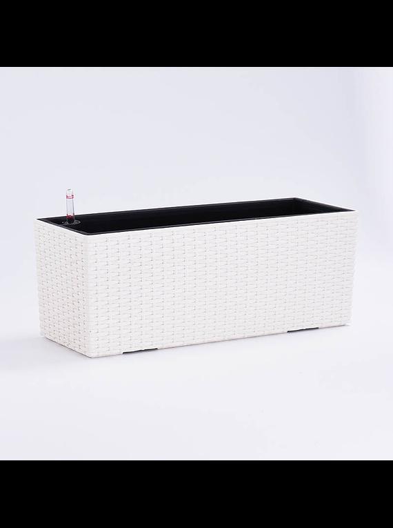 JARDINERA RATTAN TOMOMI WHITE 50cm