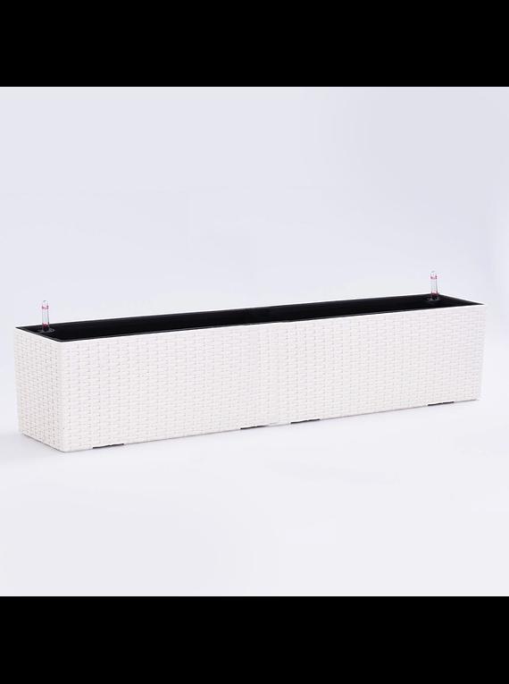 JARDINERA RATTAN TOMOMI WHITE 80cm