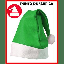 Gorros de Navidad Verdes Económicos $ 3.500