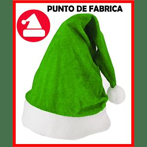Gorros de Navidad Terciopelo Verde $ 4.500