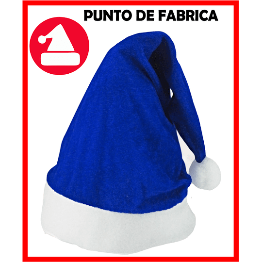 Gorros de Navidad Terciopelo Azul $ 4.500