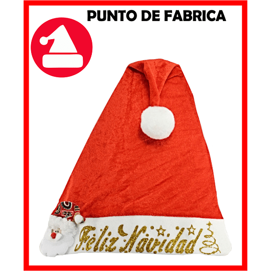 Gorros de Navidad Terciopelo Rojo Marcado $ 4.800