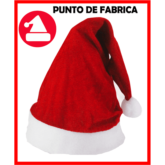 Gorros de Navidad Terciopelo Rojo $ 4.500