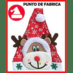 Gorros de Navidad Peluche Corto Reno $ 7.000