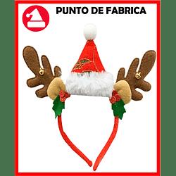 Diadema navideña Gorro y Reno Con Luces $ 7.500