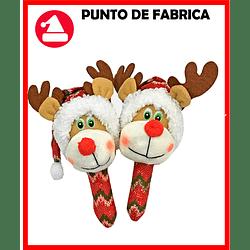 Maracas de Navidad Reno Roja Grande $7.000