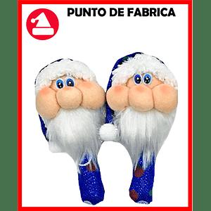 Maracas de Navidad Santa Azul Grande $7.000