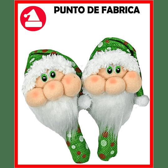 Maracas de Navidad Santa Verde Grande $7.000