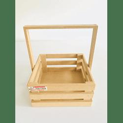 Caja de Madera MDF  Tipo Agarradera-Se venden mínimo 100 Unidades 25x25, x30 alto