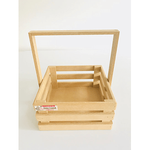 Caja de Madera MDF  Tipo Agarradera-mínimo 50 Unidades 25x25, x30 alto