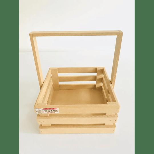Caja de Madera MDF  Tipo Agarradera-mínimo 100 Unidades 25x25, x30 alto - Image 1