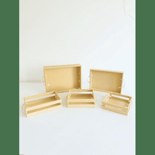 Caja de Madera Para Desayunos Sorpresa-mínimo 50 Unidades 40x30, x8 alto - Image 4
